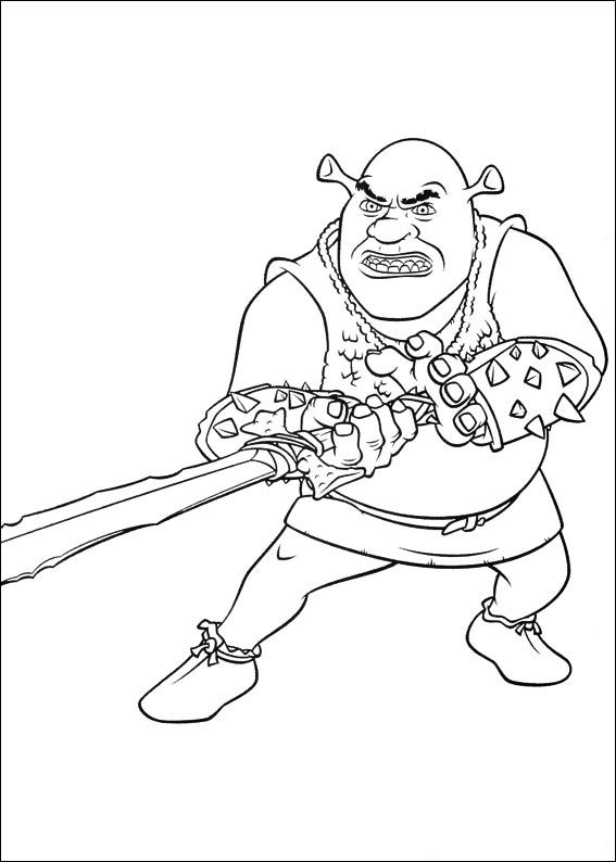 shrek forever after coloring pages - photo#14