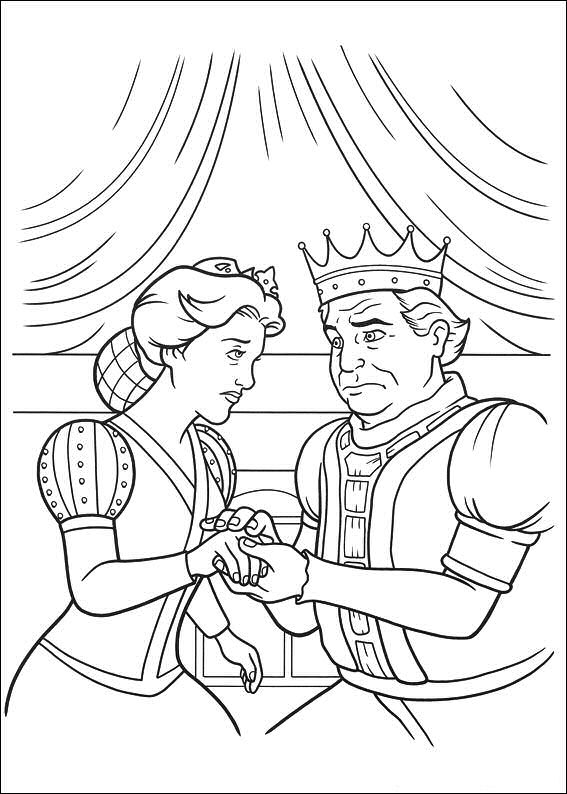 shrek forever after coloring pages - photo#7