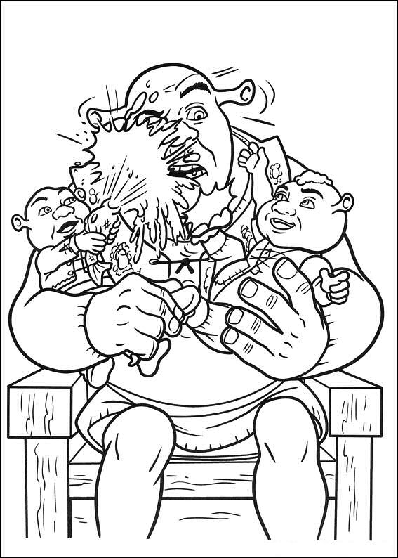 shrek forever after coloring pages - photo#12