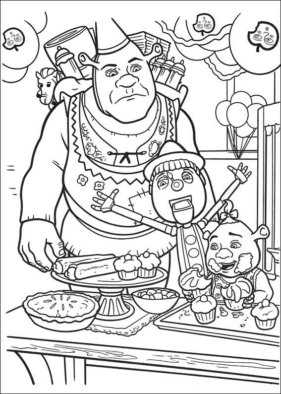 shrek forever after coloring pages - photo#32