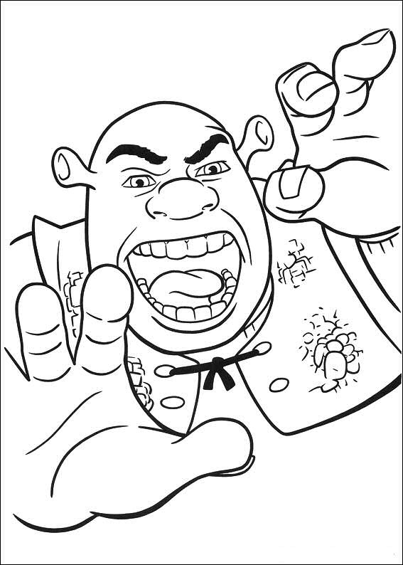 shrek forever after coloring pages - photo#18