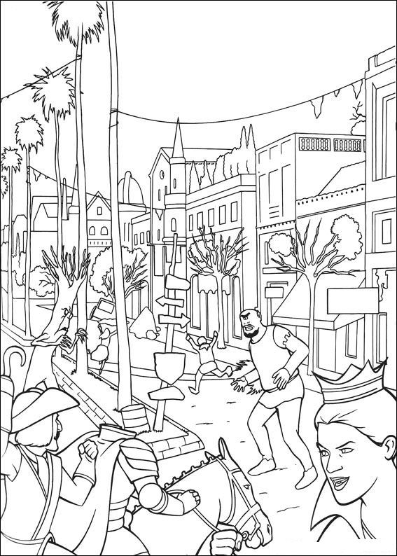 shrek 3 coloring pages - photo#12