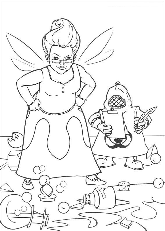 shrek forever after coloring pages - photo#28