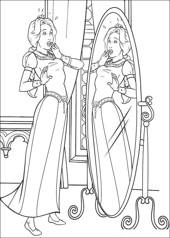 Kids N Fun Com Create Personal Coloring Page Of Shrek Coloring Page