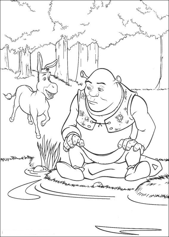 schreak coloring pages free - photo#23