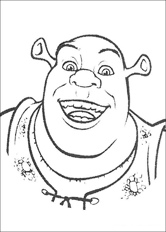 schreak coloring pages free - photo#28