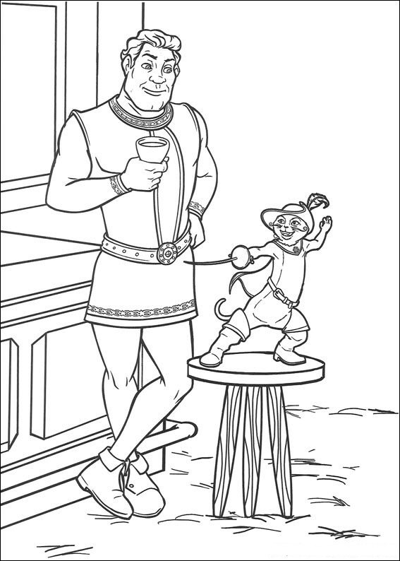 Kids-n-fun.com | 46 coloring pages of Shrek