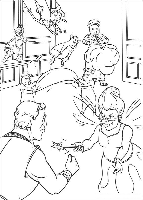 shreks house coloring pages - photo#44