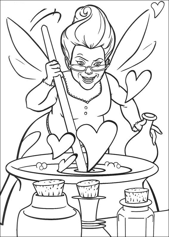 free downloadable coloring pages | Kids-n-fun.com | 46 coloring pages of Shrek