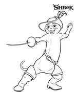 coloring page Shrek 3