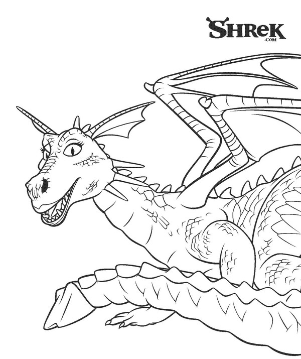 shrek dragon coloring pages - photo#3