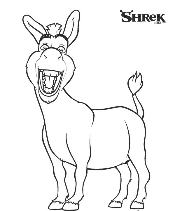 Kids n shrek 3 for Coloring pages shrek