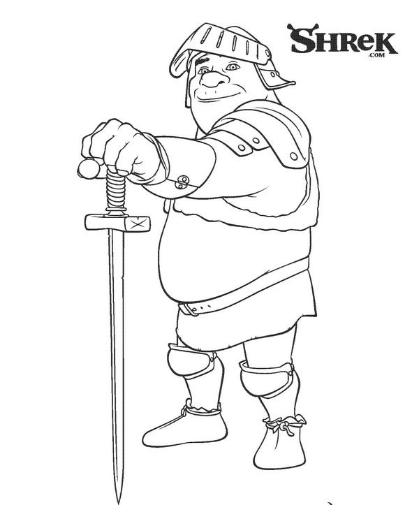 Kids-n-fun.co.uk | Coloring page Shrek 3 Shrek 3 | 723x600
