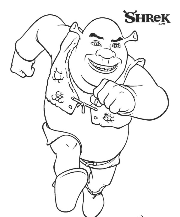shrek 3 coloring pages - photo#8
