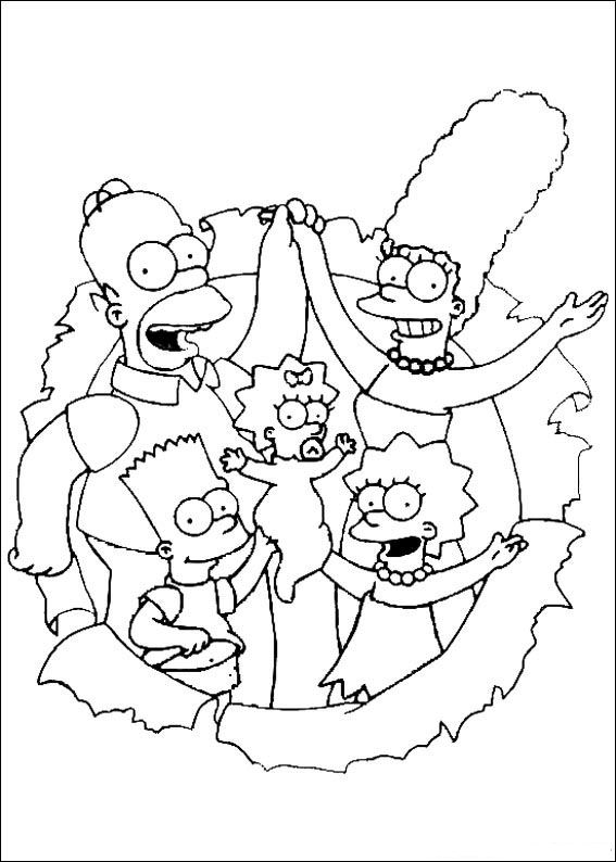 Kids-n-fun.com | 58 coloring pages of Simpsons