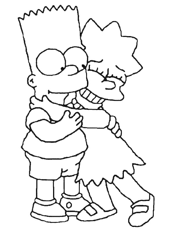 Kidsnfun 58 coloring pages of Simpsons