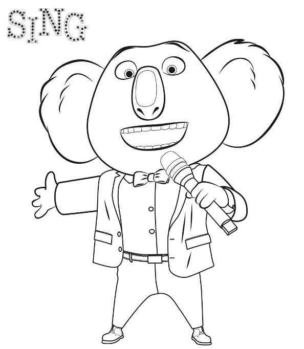 Kidsnfuncom  31 coloring pages of Sing
