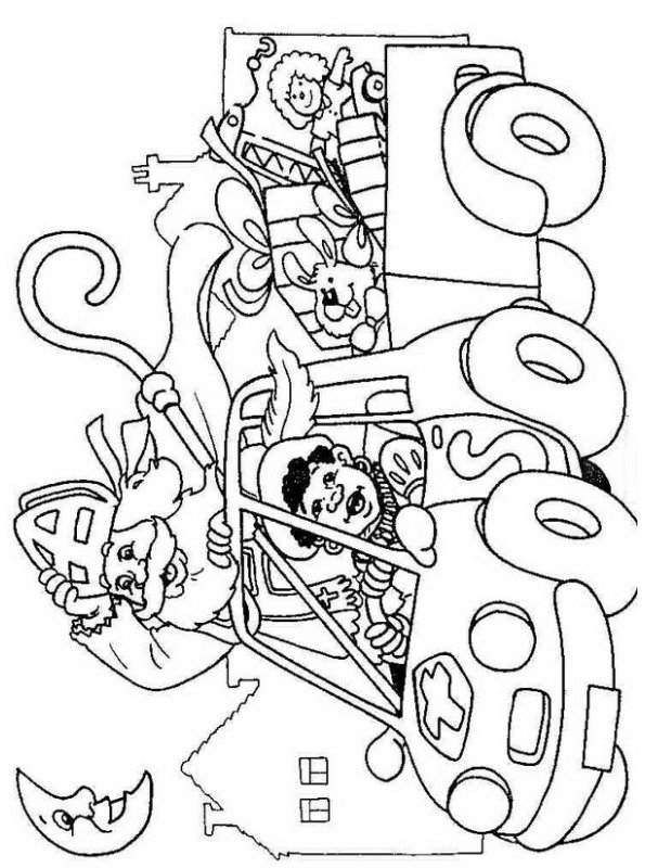 Kids n funcom 38 coloring pages of St Nicholas