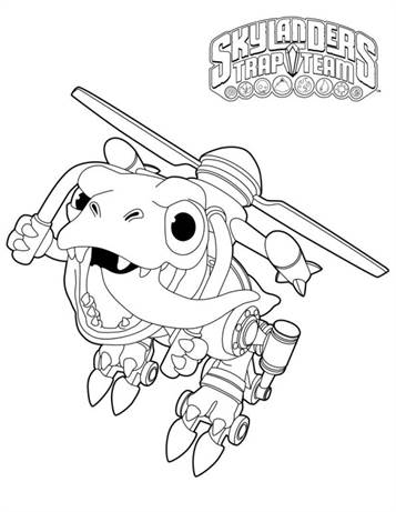 n 33 coloring pages of skylander trap team