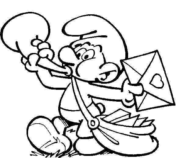 Kids-n-fun.com | 59 coloring pages of Smurfs