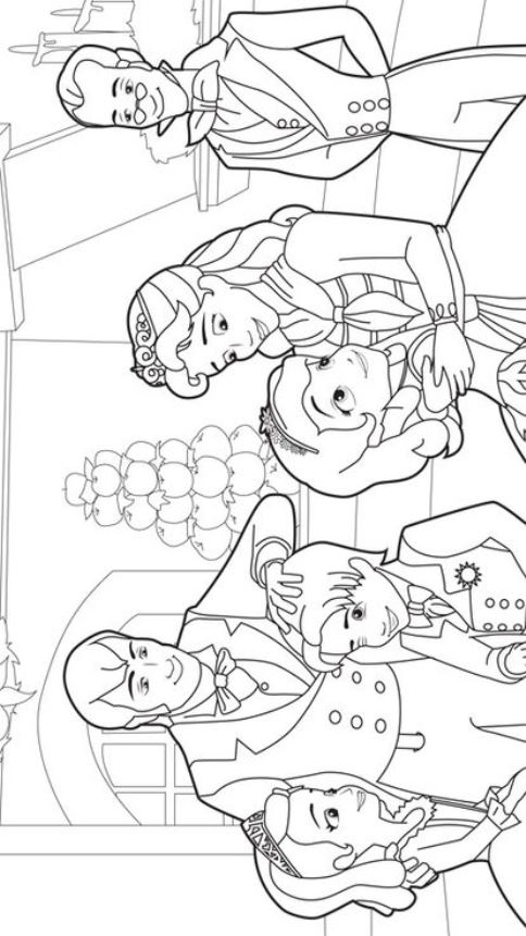 sofia the first coloring pages family | Kids-n-fun.com | 13 coloring pages of Sofia the First