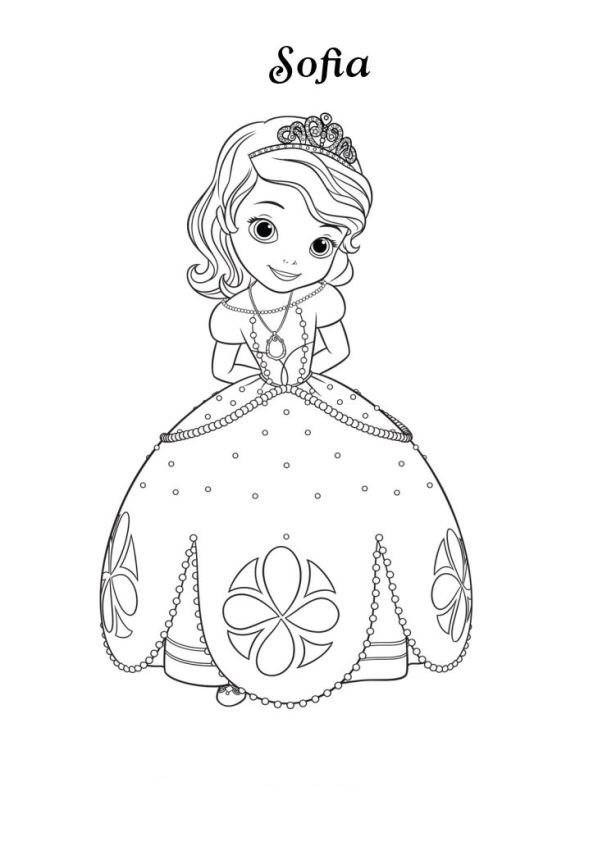 Paasei Kleurplaat Volwassenen Kids N Fun Co Uk Coloring Page Sofia The First Princess
