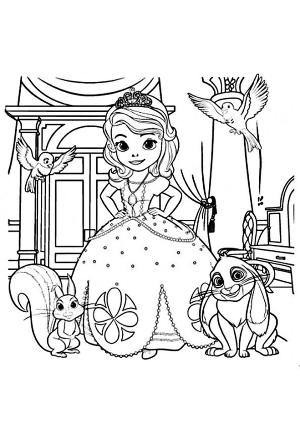 Kids N Fun Co Uk Coloring Page Sofia The First Sofia And Friends