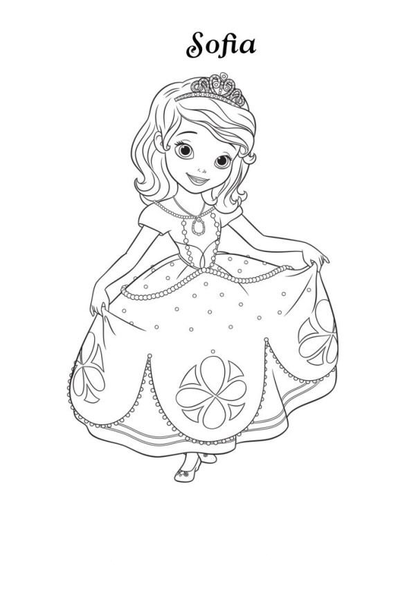 Kids N Fun Co Uk Coloring Page Sofia The First Sofia