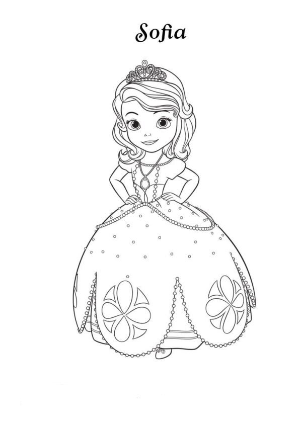 Kidsnfun 13 coloring pages of Sofia the First