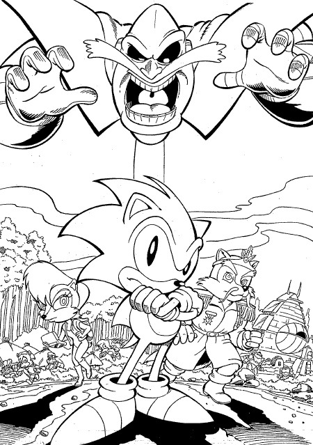 Kids-n-fun.com | 20 coloring pages of Sonic X