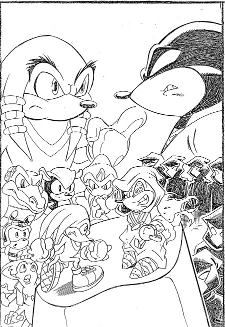 Kidsnfun 20 coloring pages of Sonic X