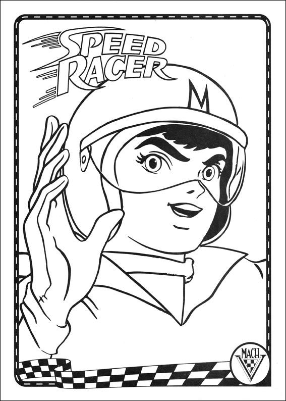 coloring pages speed racer - photo#1