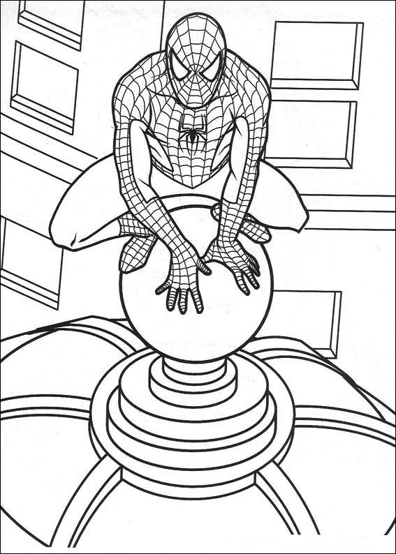 27 spiderman coloring pages - Spiderman Coloring Pages Kids