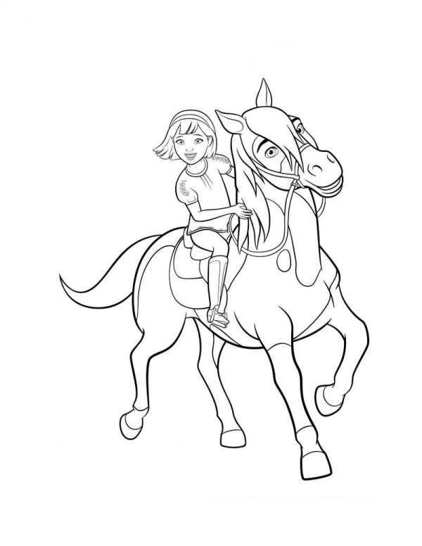 Kids N Fun Com 16 Coloring Pages Of Spirit Riding Free