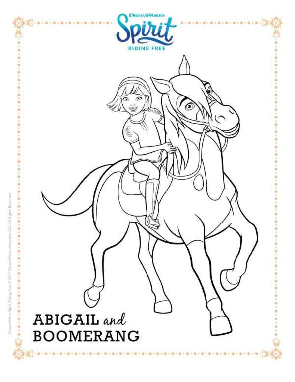 kidsnfun  16 coloring pages of spirit riding free