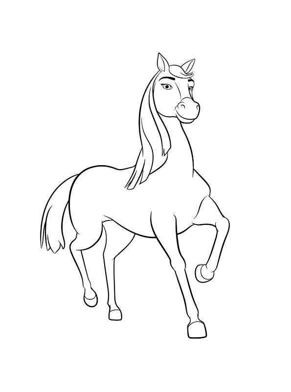 Kids N Fun Com Coloring Page Spirit Riding Free Chica Linda