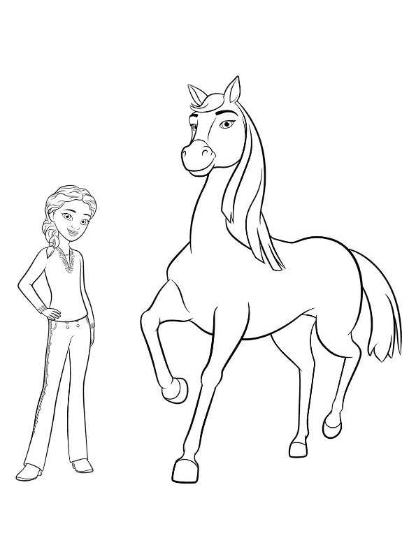 Spirit Riding Free Coloring Pages - Best Coloring Pages For Kids | 800x595