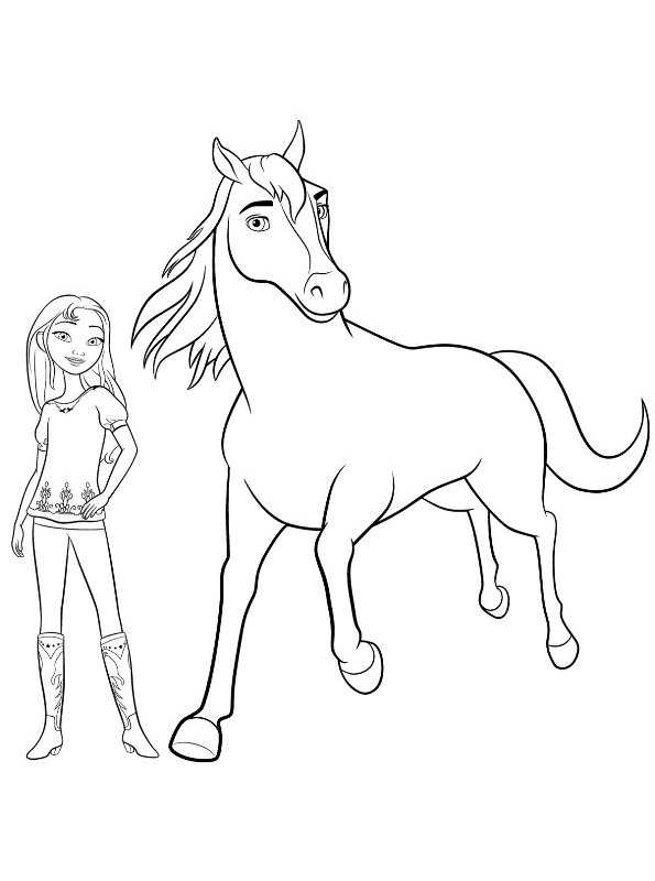 Kids N Fun Com 16 Coloring Pages Of Spirit Riding Free Spirit Coloring Pages