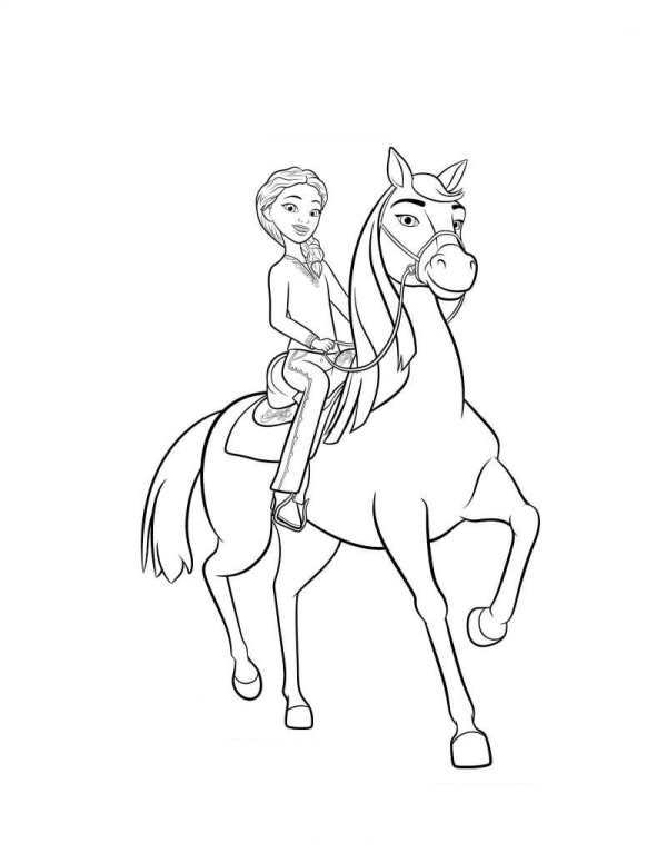 spirit stallion of the cimarron coloring pages many interesting ...