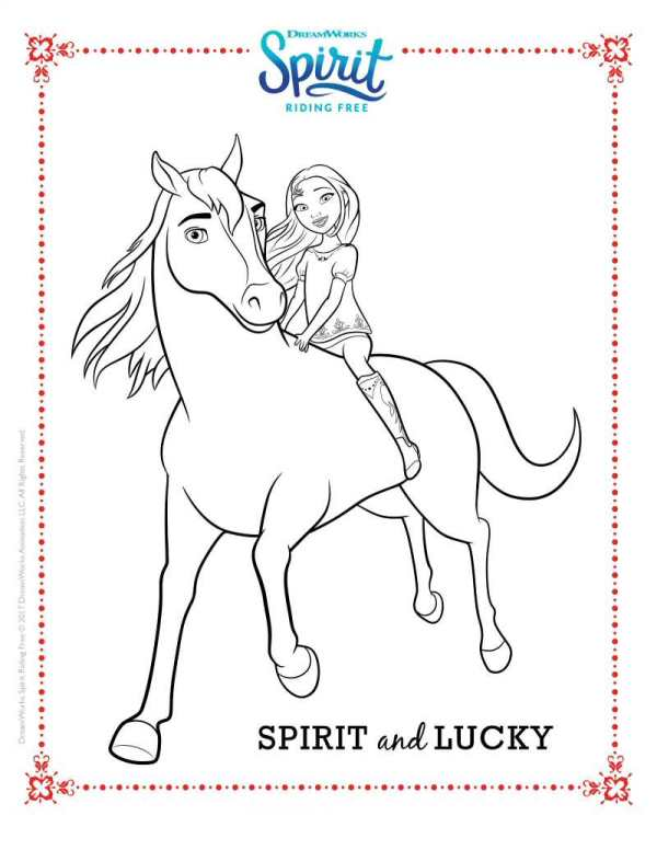 spirit horse coloring pages Kids n fun.| 16 coloring pages of Spirit Riding Free spirit horse coloring pages