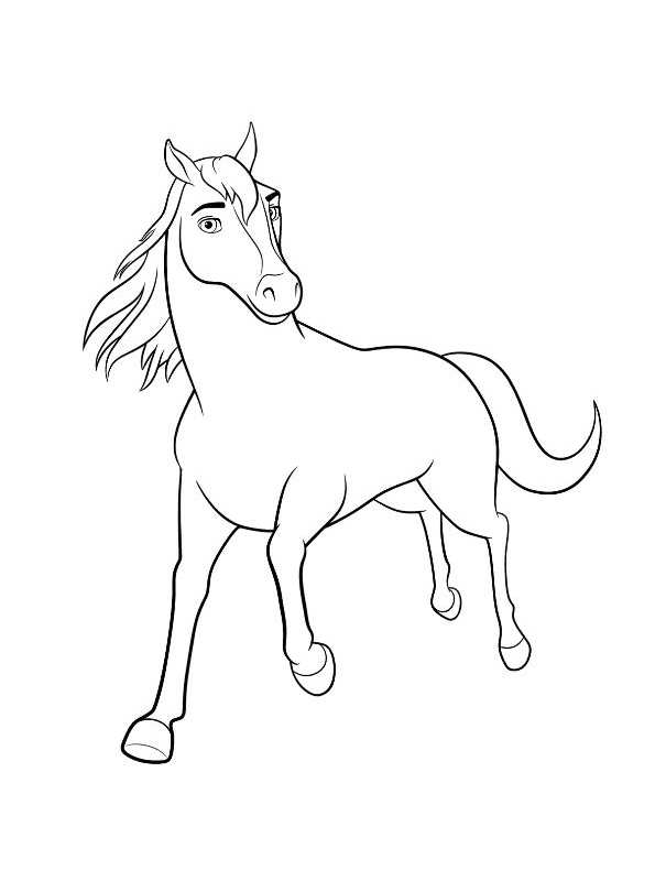 Kidsnfun 16 coloring pages of Spirit Riding Free