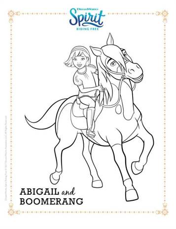 Kids N Fun Com 16 Coloring Pages Of Spirit Riding Free