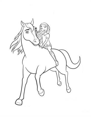 Eenhoorn Kleurplaat Met Een Veulen Kids N Fun Com 16 Coloring Pages Of Spirit Riding Free