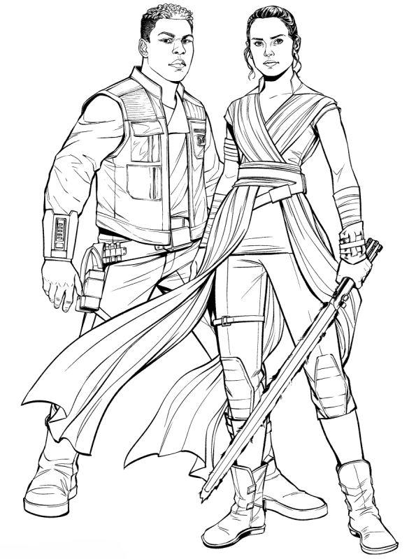 kidsnfun  coloring page star wars rise of skywalker