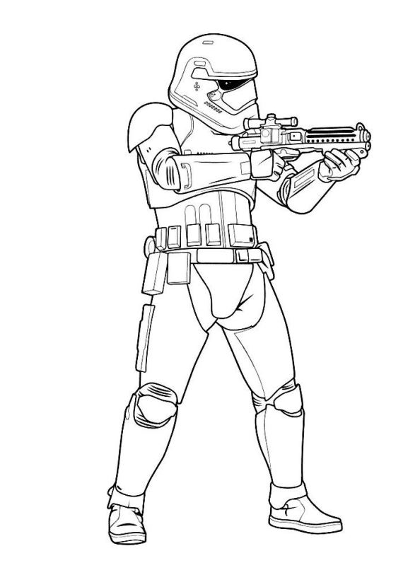 kids-n-fun | 21 coloring pages of star wars the force