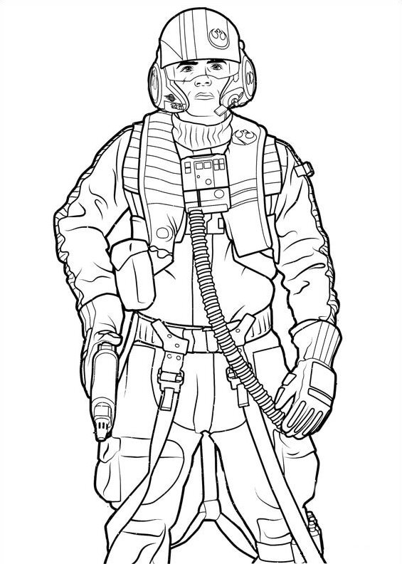kidsnfun  21 coloring pages of star wars the force