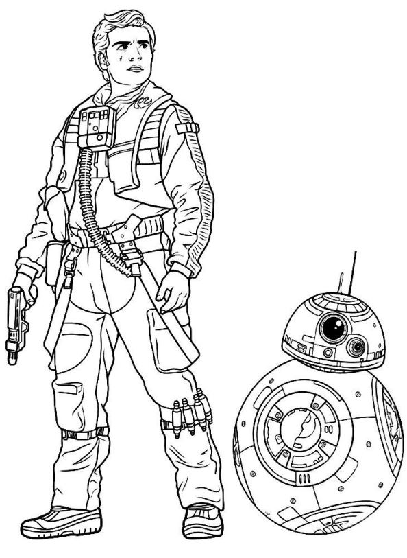 Kids n funcom 21 coloring pages of Star Wars The force awakens