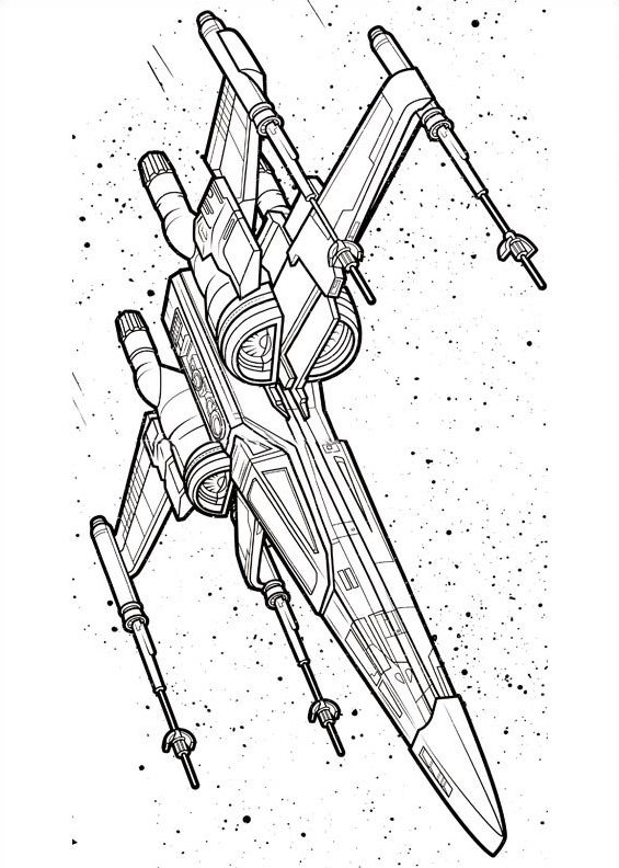 star wars y wing coloring pages