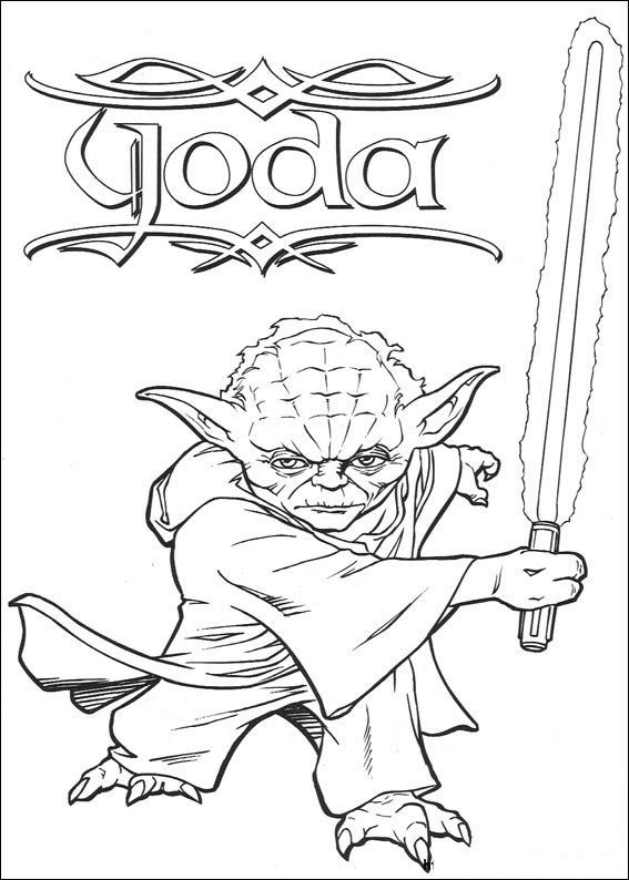 Kids-n-fun.co.uk | 67 coloring pages of Star Wars