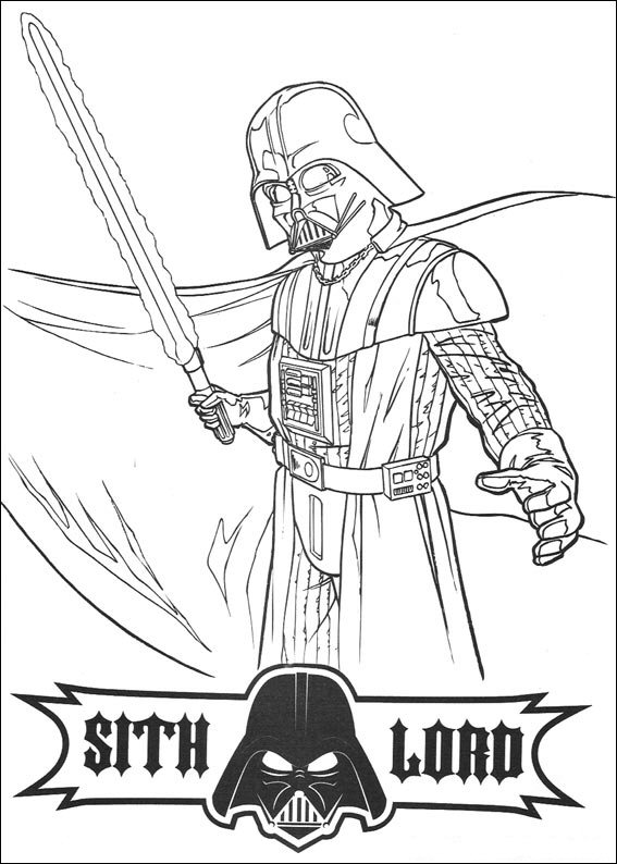 Kids n funcom 67 coloring pages of Star Wars